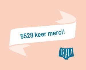 5528 keer merci!