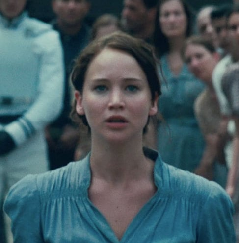 Jennifer Lawrence van de film The Hunger Games
